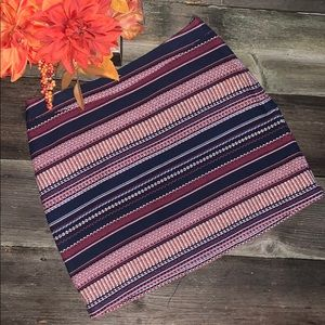 Hollister BOHO Tapestry Striped Mini Skirt JR. 0
